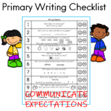 K - 2 Writing Checklist for Students and Parents