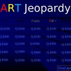 K-4 Art Vocab Jeopardy Game ppt