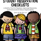 K-5 Student Observation Checklist Form