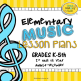 Elementary Music Lesson Plans-Bundled-First Half of Year