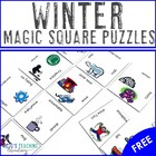 K-6 Winter Magic Squares FREEBIE