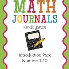 K Math Journals: Introduction Pack