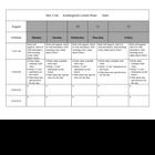 K/1 Lesson Plan template for Litearacy Classroom