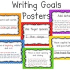 K/1 Writing Goals Posters