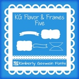 KG Flavor And Frames Five Font: Personal Use