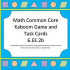 Kaboom!!! Identifying Parts of Expressions Game/Task Cards