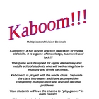 Kaboom!!! Multiply and Divide Decimal Game