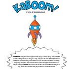 Kaboom!  Types of Sentences Game! 2nd Version New Game