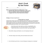 Katie's Trunk Revolutionary War Novel Study with Answer Ke