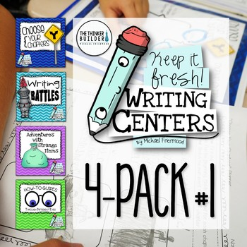 Keep It Fresh! Writing Centers {4-Pack #1}