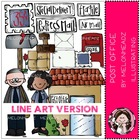 Kelly's post office LINE ART bundle by melonheadz