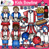 Kiddos Little American Bowling Sports League Clip Art