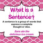 Artsy Teacher Cafe - FOUR SENTENCE TYPES Poster Set