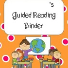 **Kids, Cupcakes, N Common Core** Guided Reading Binder Cover