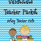 Artsy Teacher Cafe - SUPER Substitute Teacher Packet for B