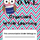 **Kids, Cupcakes, N Common Core** OWL Organized While Lear
