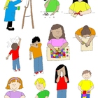 Kids in Action: School Days 3 Clip Art! 22 PNGs for Schedu