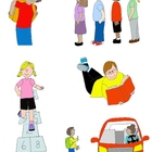 Kids in Action: School Days Clip Art!  26 PNGs for Routine