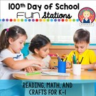 Kindergarten 100th Day of School Parent Letter and 100 Grid