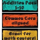 Kindergarten Basic Addition Packet 1-10 - Common Core Aligned