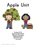 Kindergarten Apple Unit