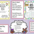 April Math BUNDLE for Kindergarten