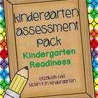 Kindergarten Assessment Pack