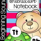 Kindergarten Beginning Sounds Interactive Notebook