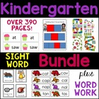 Kindergarten CCSS Center Sight Words Word Work Bundle