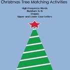 Christmas Tree Match - letters, numbers and shapes K-1