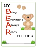 Kindergarten Classroom Start-Up Pack (Teddy Bear Theme)