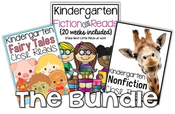Kindergarten Close Reads BUNDLED {30 weeks included}