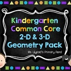 Kindergarten Common Core 2-D Geometry Pack