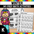 Kindergarten Common Core Aligned Winter Math Worksheets