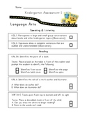 Kindergarten Common Core Assessment Pack
