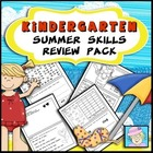 Kindergarten Common Core Based Summer Skills Review Pack