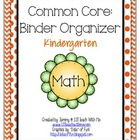 Kindergarten Common Core Binder Organizer Math