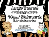 "Kindergarten Common Core ELA & Math ""I Can"" Statements - J"