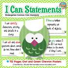 Kindergarten Common Core ELA and Math Standards-Green Chev