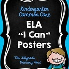 "Kindergarten Common Core ELA Standards - Kid-Friendly ""I C"