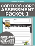 Kindergarten Common Core Standards Assessment Packet - Quarter 1