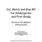Kindergarten Cut, Match and Glue #2