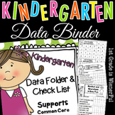 Kindergarten Data Folder & Checklist~supports Common Core!