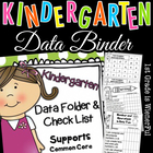 Kindergarten Data Folder & Checklist  Common Core Aligned!