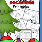 Kindergarten December Math and ELA Unit {Common Core Aligned}