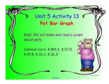 Kindergarten Everyday Math SMARTboard Activities for 5.13