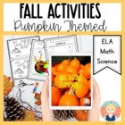 Kindergarten Fall Parent Letter and Pumpkin Project/Craft