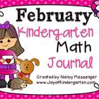Kindergarten February Math Journals