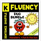 Kindergarten Fluency Center Bundle - aligned with Common Core
