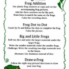 Kindergarten Frog Math Center Activities